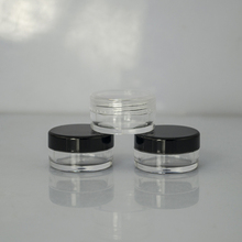 3g 5g round shape plastic cosmetic eye cream jar empty cosmetic pots eco lip balm container with black lid