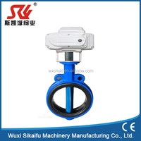 High quality wafe butterfly valve cast iron with motorized actuator for water