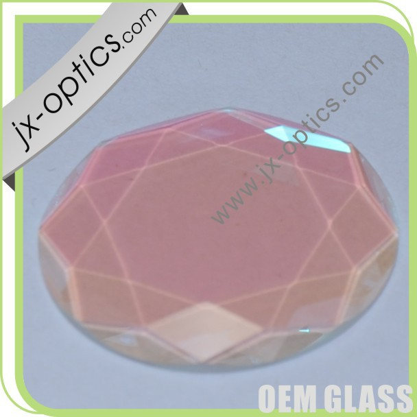 Customized Polygonal art glass coating for art glass,jewellry glass,glass diamond