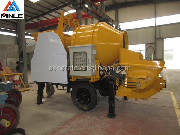 China low price portable pump with mixer transmit concrete with damper and working light