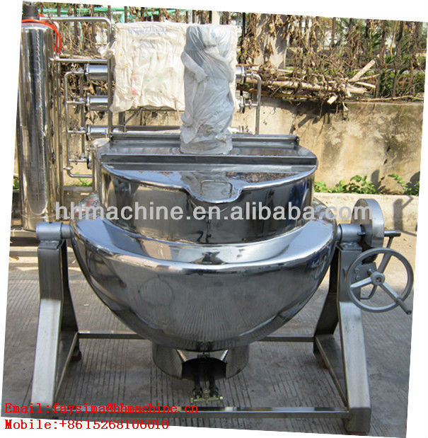 50-1000L stew boil porridge Gas Heating Jacketed Boiling Kettle with agitator high thermal efficiency made in chine save energy