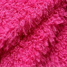 100% polyester Artificial long pile sheep cashmere fabric