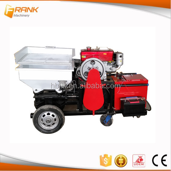 Construction services diesel type pump plaster cement mortar machine with high quality