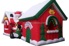 china factory supply Promotion Inflatable,inflatable santa house,welcome OEM & ODM