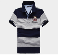 Two color striped golf shirts,fashion polo shirt design maker