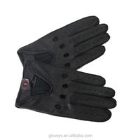 Male deer skin driving style stock leather gloves (F070)