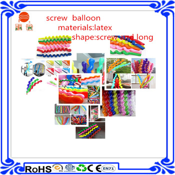 2015 hot sale in europe green screw balloon latex balloon for halloween