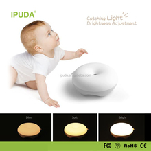 2017 made in china wholesale IPUDA mini night light with rechargeable battery zero touch magic dimmable control
