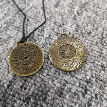 Russian Thailand hot ancient antique brass amulet pendant necklace for wealth health fortune