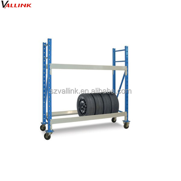 display & storage mobile tire dolly