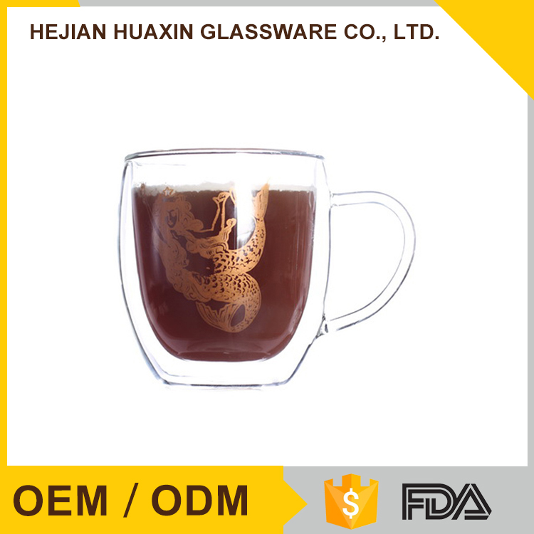 Elegant Promotional double insulated tumblers with handle