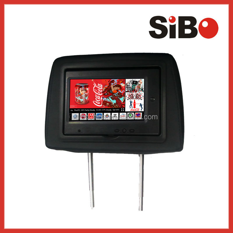 Taxi Headrest 3G Internet Advertising Monitor, LCD Advertising Screen, Taxi TV Advertising