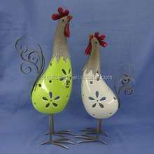 metal ceramic chicken