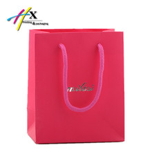 Wholesale Custom Hot Stamping Logo Paper Gift Bag with Cotton Handle