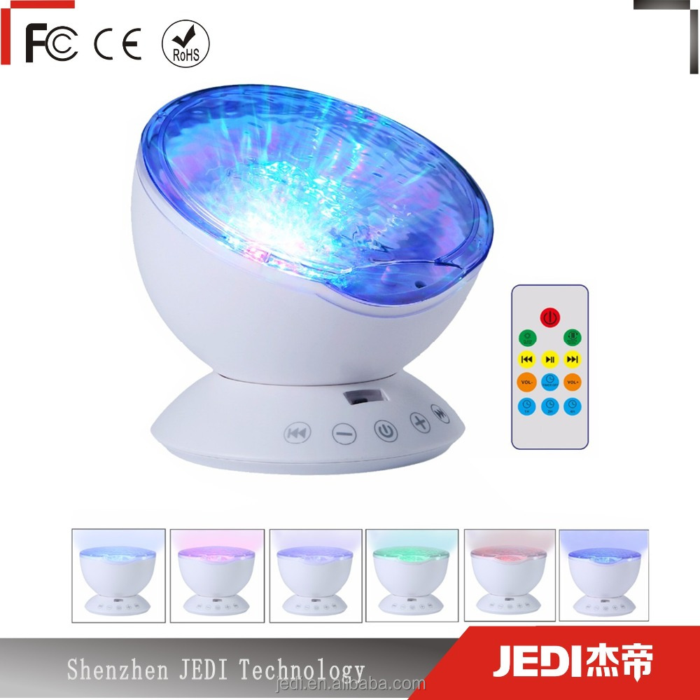 Colorful sky lamp led baby night light projector like ocean wave_HL3689