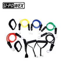 Crossfit gym exercise resistance loop bands set with anchor