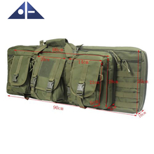Top Selling Tactical Double Carbine Rifle Range Gun Carry Bag Padded Case Backpack 37