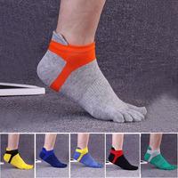 Classic Design Antislip Men Cotton Toe Socks For Yoga