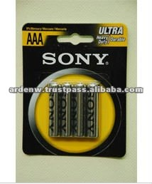Sony High Quality 4 Piece Blister Pack AAA Dry Battery