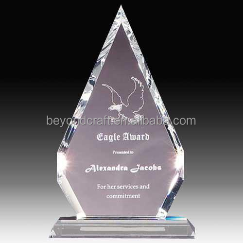 crystal eagle awards,glass crystal awards plaque