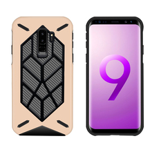New Arrivals 2018 Hybrid TPU PC Carbon Fiber Cell Phone Cover Case for Samsung Galaxy S9 S9 Plus