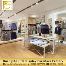 high quality furniture china display counter racks cloth shop counter table design garment shop interior design