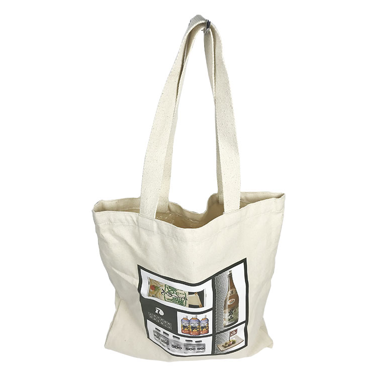 Hot selling good quality girl white fashion recycled carry cotton bag