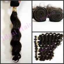 2012 Hot!! peruvian hair weaving hair wavy with all length