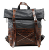 1008 Hot Fashion Top Roll Tarpaulin Leather Waterproof Travel Bag for Men