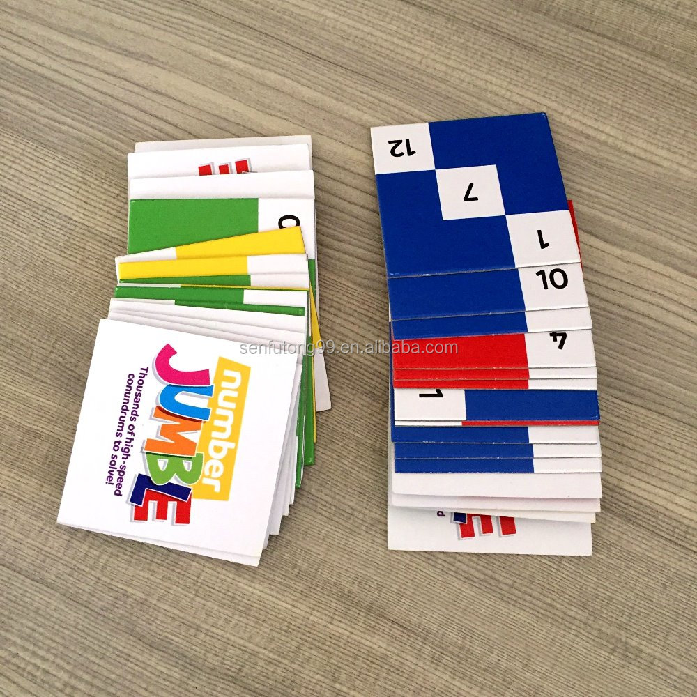 Hot Sale Custom Educational Flash Number Game Card Printing for Children