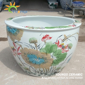 Delicate home & garden using hand paint ceramic plant stand and planters