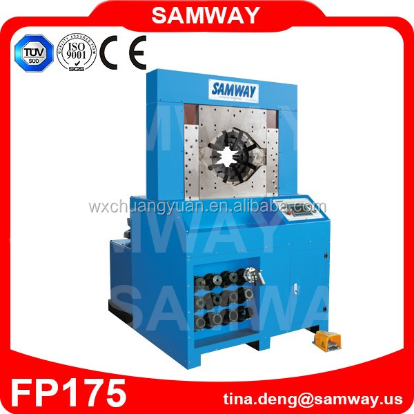 Widely used Samway FP175 SIEMENS control crimping machine for hydraulic hose