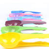 Dog food cookies spoon with food bag clips holder colorful spoon for pet