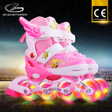 Hot Style Manufacture Car Line Cap Patines Flashing Pink Inline Skate
