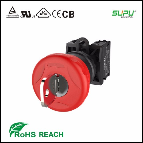 Supu Key E-Stop Emergency Stop Push Button Switches