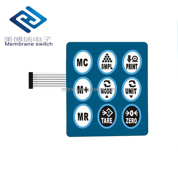 Mylar switch on off membrane switch polycarbonate graphic overlay