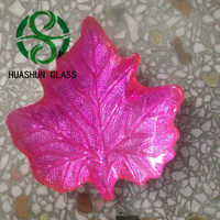 Maple Leaf Shape Glass Plate