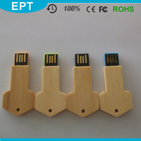 USB 3.0 Key Shaped Wood Wholesale USB Flash Drive Components