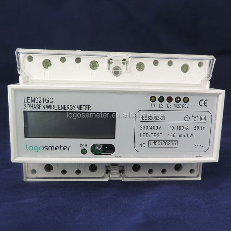 MODBUS Three phase din rail digital multifunction CT connect energy meter DDM100TCD