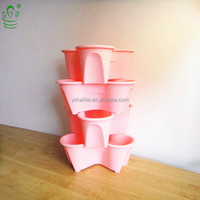 Large Outdoor Stackable Vertical Plastic Garden Planter, Beautiful Orchid Pots