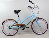 2015 hot steel frame colorful rim children beach cruiser bicycle with fenders