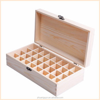 Pine compartment essential oil wood storage box