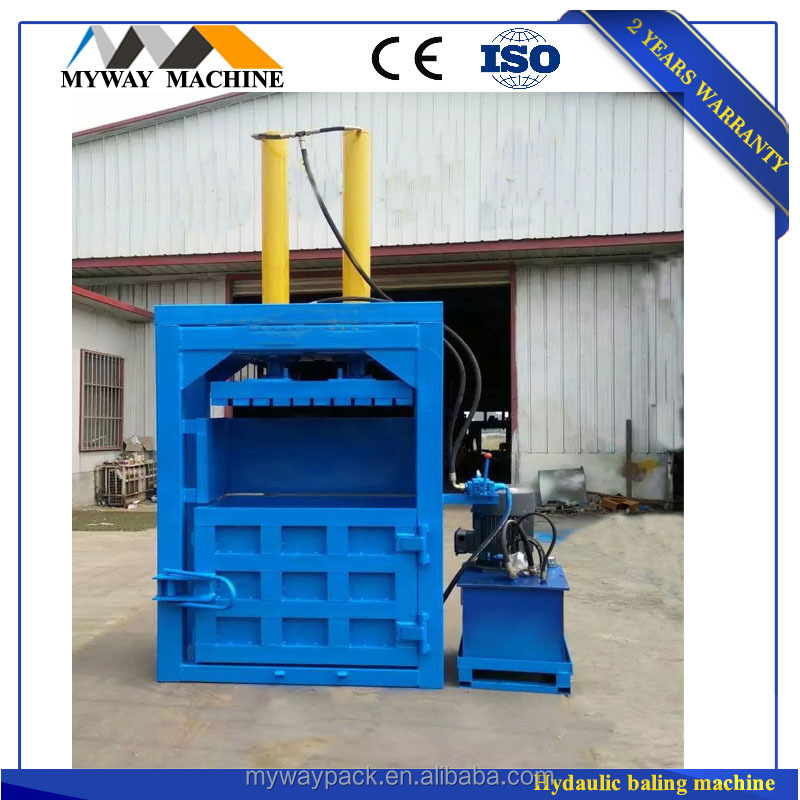 Vertical baling machine for pet bottle /plastic