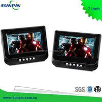 "NEW! DUAL 7"" WIDE SCREEN PORTABLE DVD/MP3 PLAYER SEXY VIDEO MEDIA PLAYER"