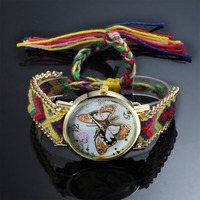 ESS fashion Colorful flavor fabric movement quartz lady watches fancy watch LD127