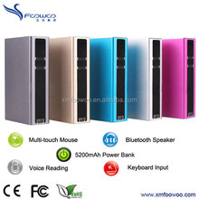 5200mA power bank infrared laser keyboard for smartphone Ipad
