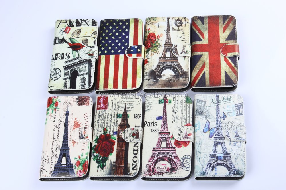 Newest Fashion PU Leather Cell Phone Case For Galaxy S5 Mini With Card Slots