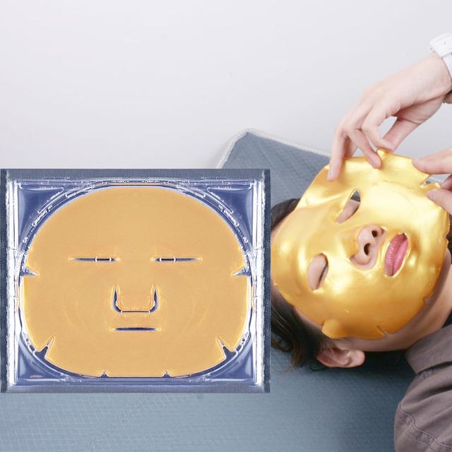 wholesale cosmetics snail hydro-gel mask 24k gold mask korea face sheet mask