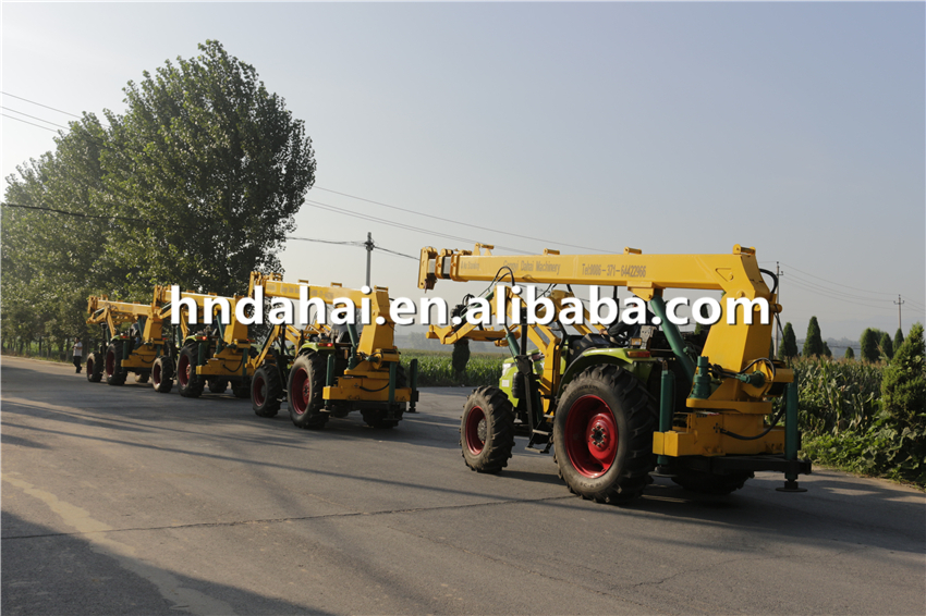 electric power facilities borehole tractor digger