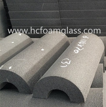 Foam glass brick/Low thermal conductivity / Meet ASTM /CE/MSDS/ISO/pipe insulation for oil and gas